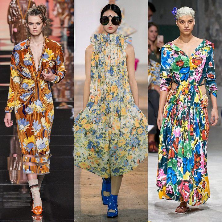 Летние платья с ярким принтом