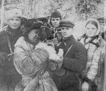 Першы савецкі аператар-жанчына Марыя Сухова