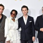 Robert Pattinson, singer H.E.R., Vanity Fair West Coast editor Britt Hennemuth joins H.E.R. and Bill Kramer 1
